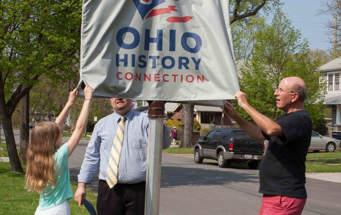 Ohio Historic Marker installed and dedicated at original Lakewood pottery site